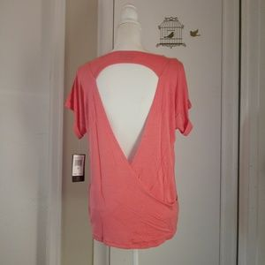 Athleta Peach Yoga Shirt Pink Lotus-PL Movement